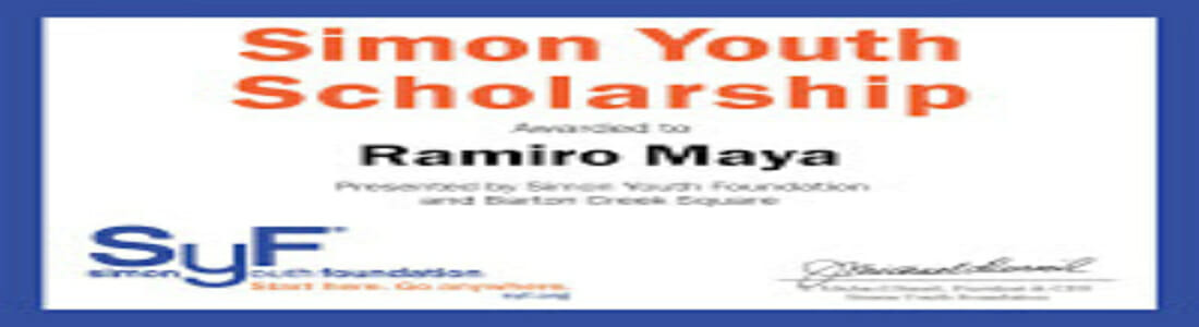 Scholarship-Certificate – Simon Youth Foundation (SYF)